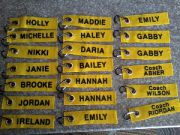 sample personalized gym bag tag